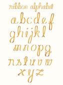 Ribbon alphabet — Stock Vector