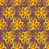 бесшовные цветочный узор — Cтоковый вектор