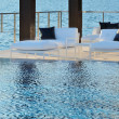 Stock Photo: Infinity pool side
