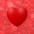 Stockfoto: Love background with hearts
