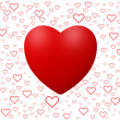 Stock Photo: Love background with hearts isolated on white