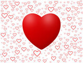 Love background with hearts isolated on white — Stock Photo