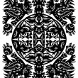 Royalty-Free Stock Vector Image: Decorative black pattern