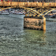 Stock Photo: Pont des Arts Bridge, Paris, France