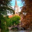Stock Photo: Autumn in bruges, belgium