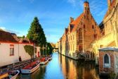 Autumn in bruges, belgium — Stock Photo