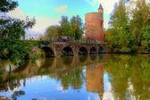 Poertoren medieval tower, bruges, belgium — Stock Photo