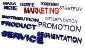 Marketing terminologies — Stock Photo