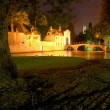 Bruges, belgium beguinage at night — Lizenzfreies Foto