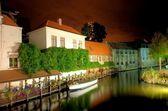 Bruges, belgium at night — Stock Photo
