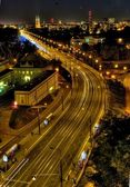 Warsaw at night — Stock Photo