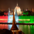 Stock Photo: Budapest parliament building at night