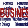 Ebusiness terminologies — Stock Photo