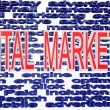 Digital marketing terminologies - Stock Photo
