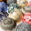 Isolated marbles 3d — Stockfoto