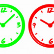 Neon clocks — Stock Photo