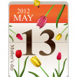 Calendar of mothers day 2012 — Stock Photo
