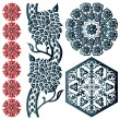 Some Islamic design elements - Stock Vector