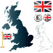 Map of United Kingdom — Stock Vector #10054208