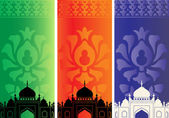 Islamic banners with mosque — Stock Vector