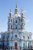 Smolny cathedral in st. Petersburg — Stock Photo