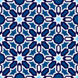 Blue Islamic ornaments - Stock Vector