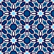 Blue Islamic ornaments — Stock Vector