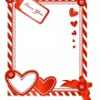 Valentine vertical card — Stock Vector