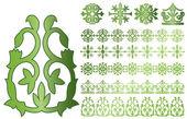 Caucasus ornaments — Stock Vector