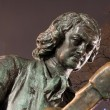 Part of bronze statue of Peter the Great — Stock Photo