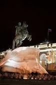 Estatua de pedro el grande en rusia — Foto de Stock
