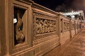 ночной горизонтальный вид на аничков мост, россия — Стоковое фото