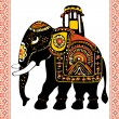 Festive indian elephant — Stock Vector #9214689