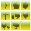 Stock Photo: Web icons for Easter