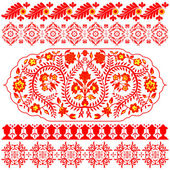 Indian ornaments on white — Stock Vector