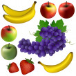 Some illustrated fruits — Stockfoto #9811516