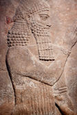 Ancient relief of Sumer king — Stock Photo