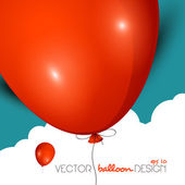 Vector balloon design — Stock Vector
