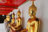 Buddhy, wat pho, bangkok, thajsko — Stock fotografie