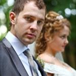Groom and bride — Stock Photo #8861010