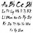 The alphabet in calligraphy brush - Stock Vector