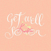 Get well soon. Card with friendly wishes — Stock Vector