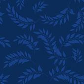 Ramas de laurel. patrón sin costuras — Vector de stock