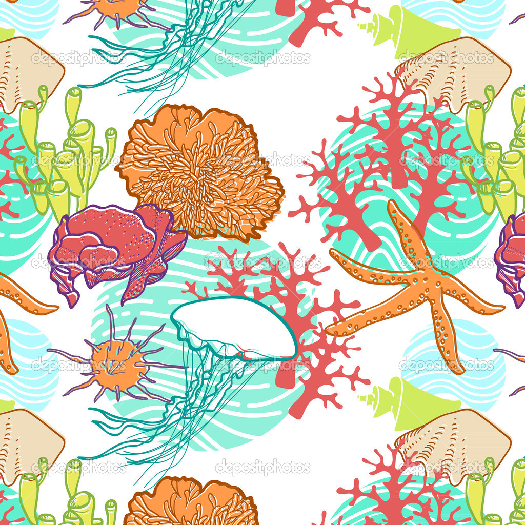 A vivid underwater world of the ocean — Stock Vector #10662042