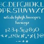 The alphabet in calligraphy — Stock Vector