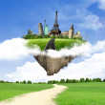 Avrupa tatil - seyahat arka plan. kavram — Stok fotoğraf #8713182