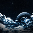 Stock Photo: Moon in clouds
