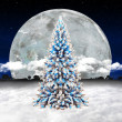 Christmas tree in sky — Stock Photo