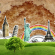 European holidays - travelling background. concept — Stock Photo #8714529