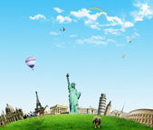 European holidays - travelling background. concept — Stock Photo